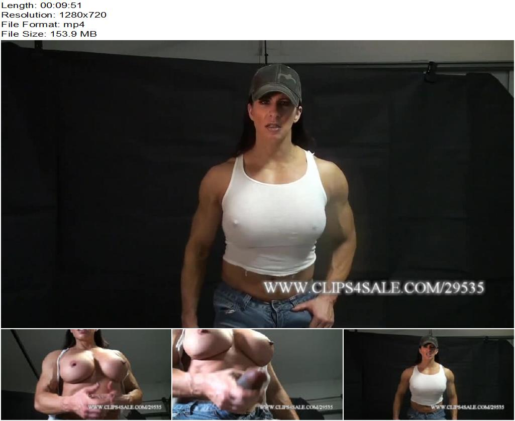 Angela Salvagno – My Big Bulge Packing Heat - Clothes Burning, Flexing