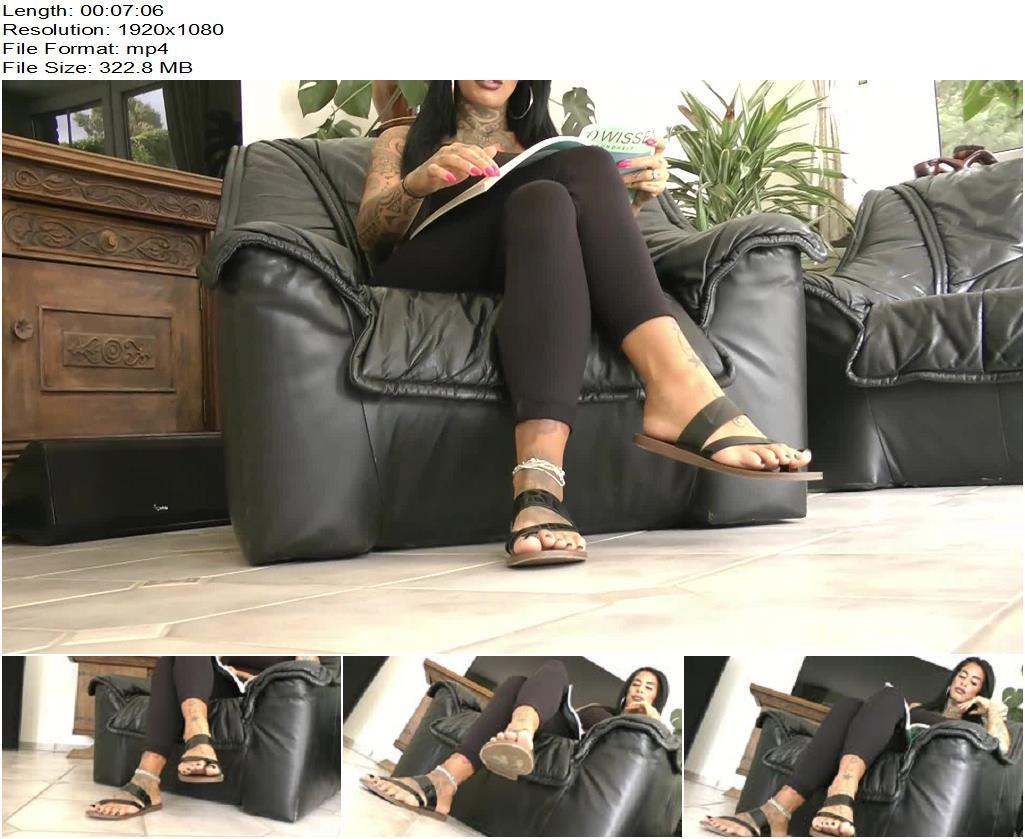 Ballerinas Flip Flops  Lady Nisha  Sandals Feet And Leggins preview