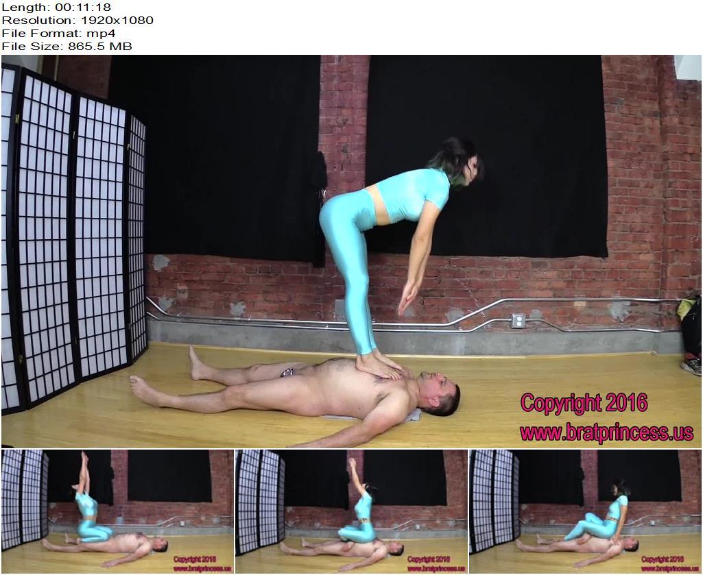 Brat Princess 2 – Alexa – Practices Yoga with Human Mat - Face Sitting, Yoga Pants