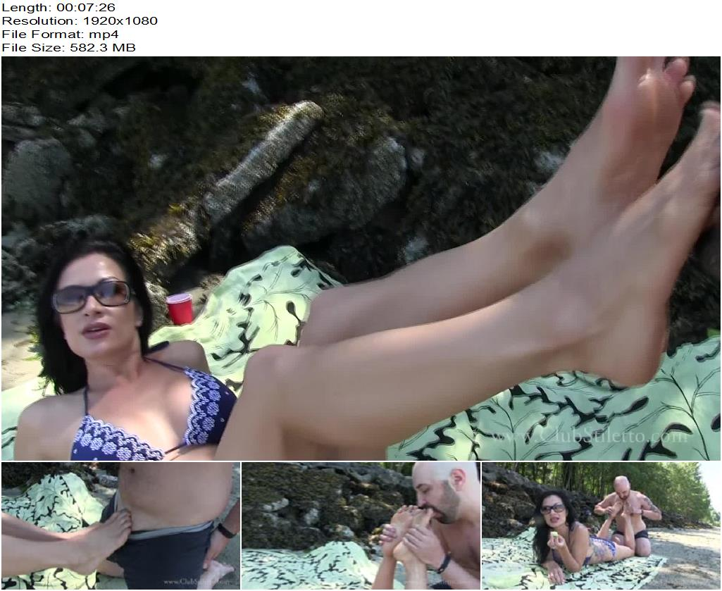 Club Stiletto FemDom – Sand, Melon And Feet -  Miss Jasmine - Foot Worship, Dirty Feet
