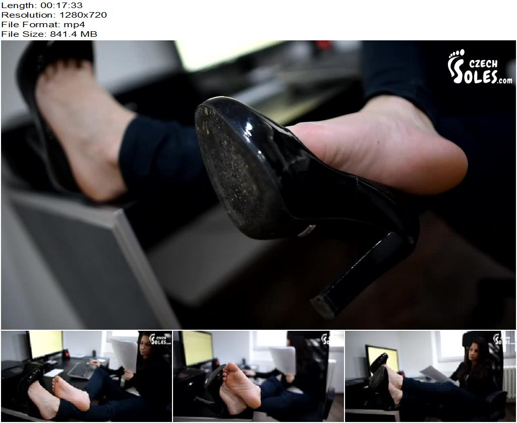 Czech Soles – Ilona – Bureau office girl's sexy feet - Footlicking, Female Domination