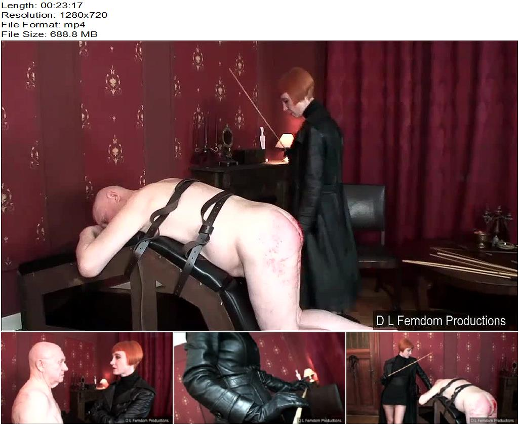D L FEMDOM PRODUCTIONS – Caned for a Confession -  Liza - Leather, Corporal Punishment