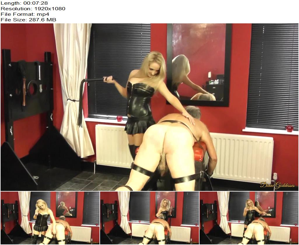 Divine Goddesses – Filthy Old Man Flogged By Mistress Courtney - Flogging, Whipping