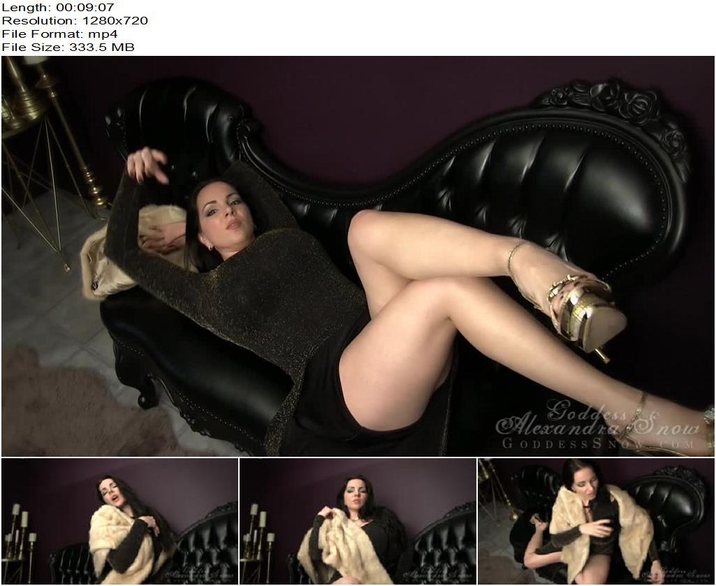 Goddess Alexandra Snow – Glamourous Furs - Goddess Snow, Tease And Denial