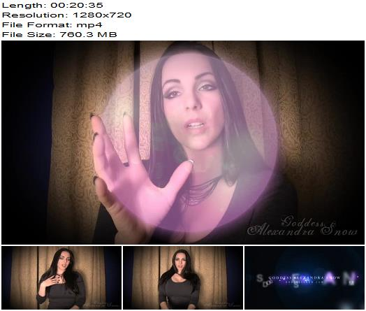 Goddess Alexandra Snow - Trance: Blank and Brainless - Slave Training, This Video Includes: Mesmerize - Tease And Denial, Blowing Bubbles