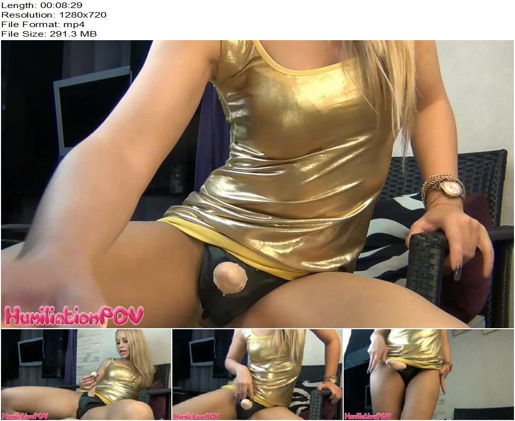 Humiliation POV – Leg Goddess – Seductive Strapon To Cock Manipulation - POV Strap-On, Dildo