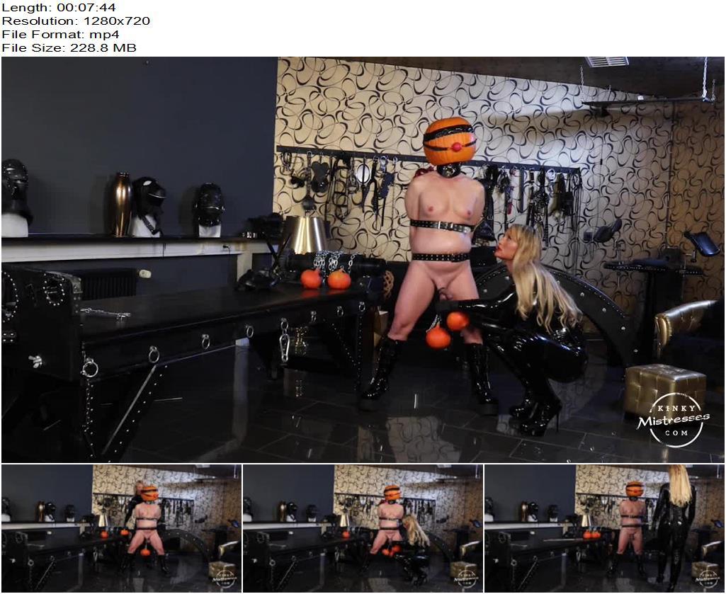 Kinky Mistresses – Calea Toxic and her Halloween Slave -  Calea Toxic - Nipple Torture, Gagged
