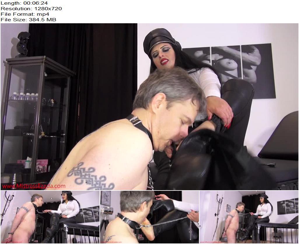Mistress Ezada Sinn – Cheesy sweaty feet licking - Foot Slave Training, Foot Domination