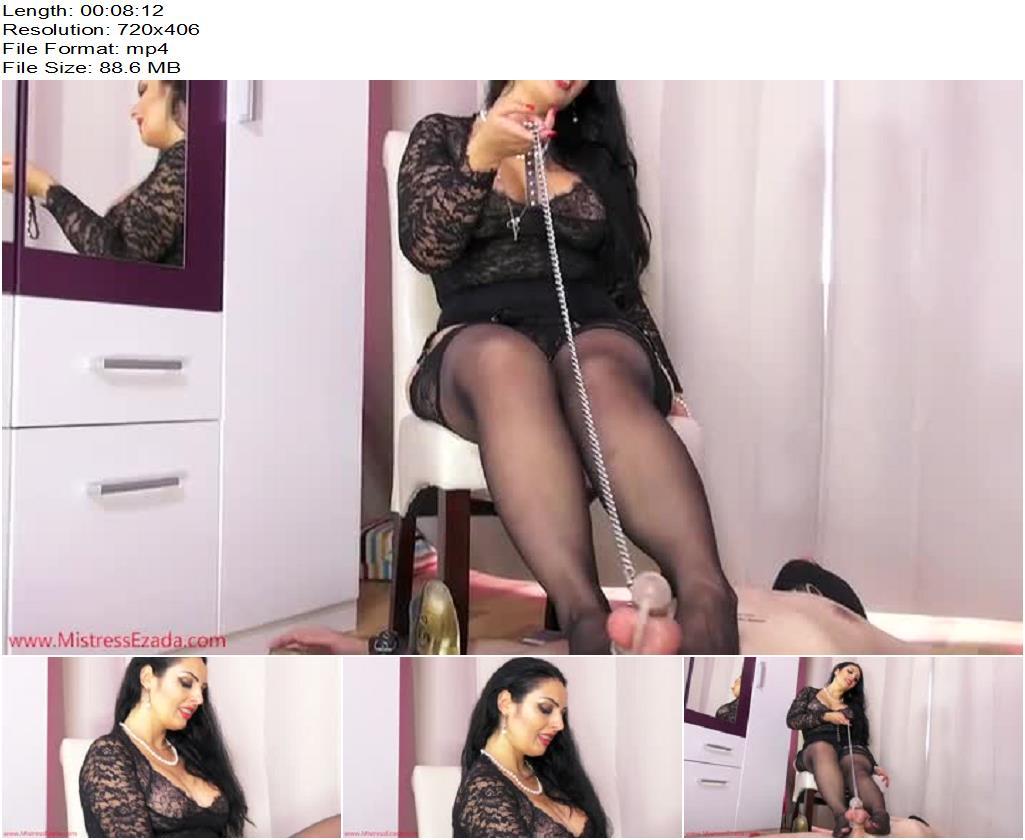 Mistress Ezada Sinn – Locked cock foot tease - Femdom, Foot Domination