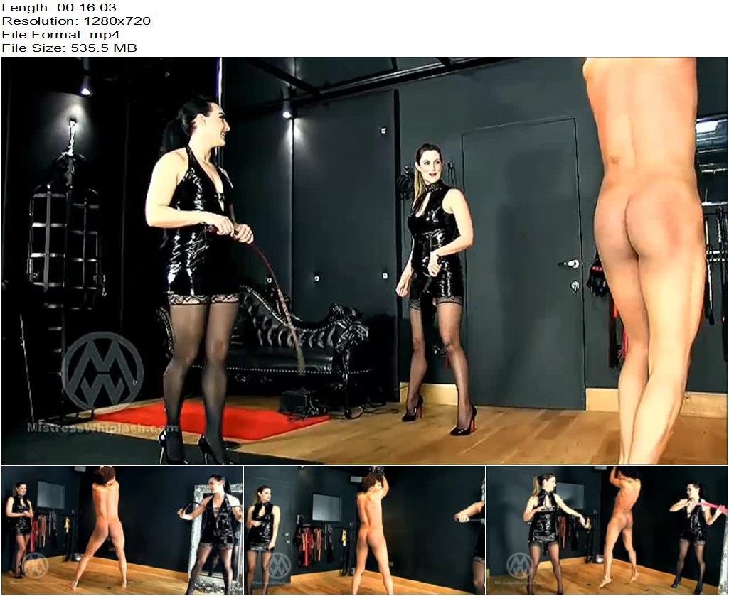 Mistress Nikki Whiplash – Slaveboy Whipped by Two Mistresses WL1374 - Femdom, Corporal Punishment