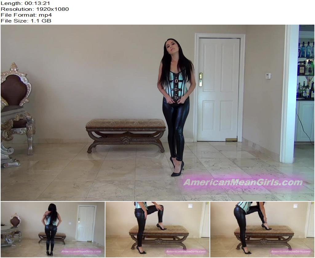 Princess Bella – Bella's Black Shiny Leggings Own You - Facesitting, THE MEAN GIRLS- P O V