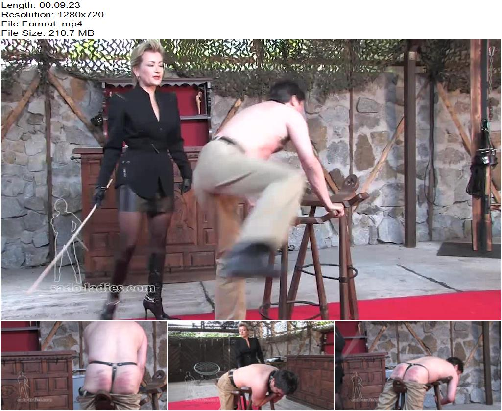 SADO LADIES Femdom Clips – Caned By The Business Lady -  Lady Pascal - Corporal Punishment, Caning