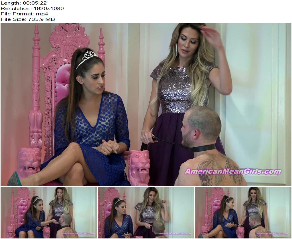 The Mean Girls – Improv Slapping For A Tardy Slave (1080 HD) – Princess Beverly - Faceslapping, Face Slapping