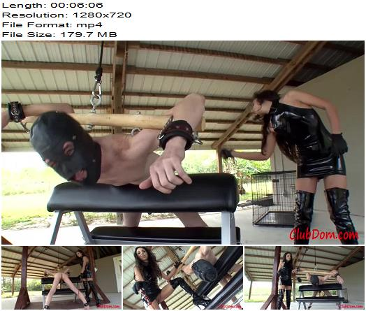Clubdom – Trinity St. Clair – Wet Pussy Caning - Mistress, Boots