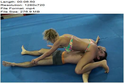 Dirty Wrestling Pit – Evilena Goes For The Balls - Female Domination, Mixed Wrestling