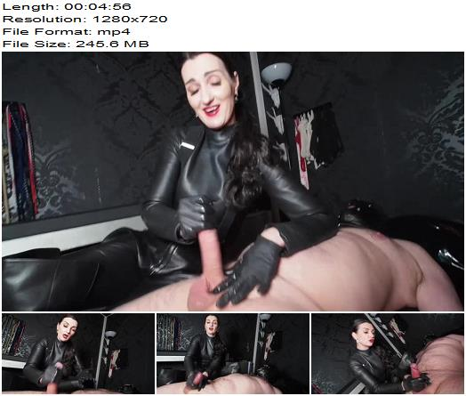 GERMAN FEMDOM Lady Victoria Valente – The Made Handjob! Forbidden to cum, but the Made is juicing his sperm! - Forced Ejaculation, Cumshot