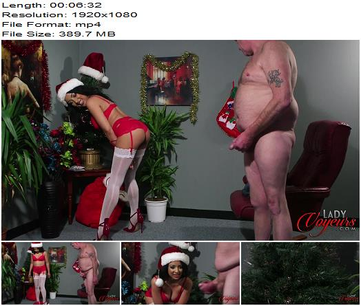 Lady Voyeurs – Kayla Louise – Christmas Wish - Teasing, Male Orgasm