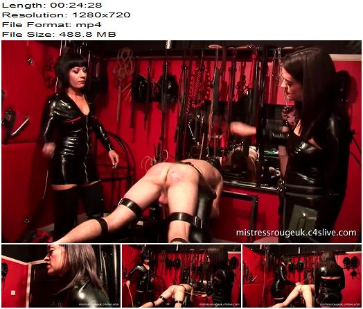 Mistress Rouge – The Rubber Clad Torture'esses – Part Three – 500 Cane Strokes - Brutal, Female Domination