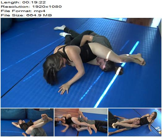 Reality Girls Scissors – Introducing Karly Salinas! 1080 HD - Femdom, Wrestling