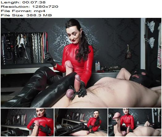 Tail comparison and high jumping sperm orgasm Handjob, with slow motion szene! - Milking, Lady Victoria Valente