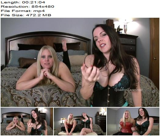 Goddess Alexandra Snow & Miss Noel Knight - 20 Minutes of Stroking with Miss Noel - Joi, Masturbation Instruction