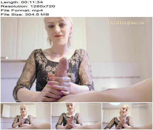 Lilu – HandJob on kitchen table - Female Domination, Sperm