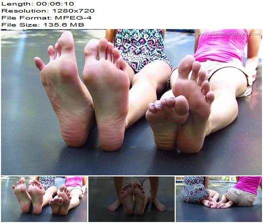 I Love Long Toes – Trampoline - Footlicking, Footworship