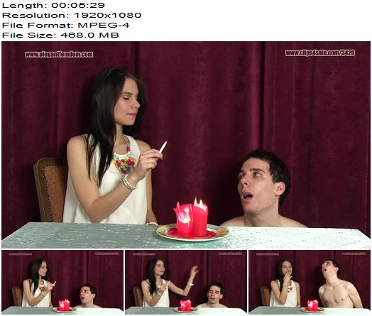 Elegant Femdom – efcl660 Ashtray – Princess Lucy [Smoking, Human Ashtray, Young Mistress] - Smoke, Cigarette