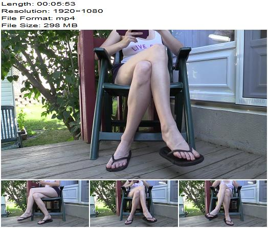 Maryan Red – Outdoors crossed legs - Female Domination, Foot Licking