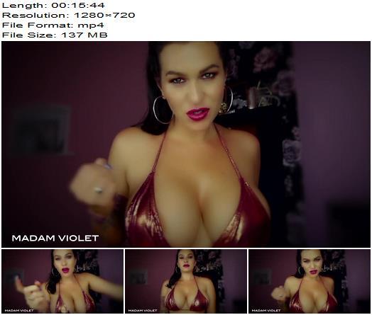 Goddess Madam Violet – Cum For My Face - Sexy, Sensual Domination