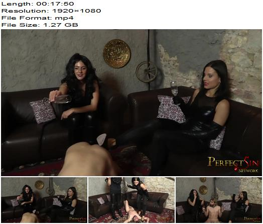 Perfect Sin – Our Human Ashtray – Lady G, Mistress Pandora - Cock Locked, Cigarette