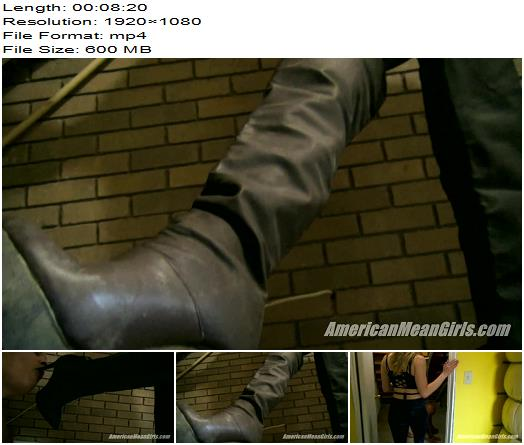 The Mean Girls – Princess Amber, Goddess Platinum – The Slave Under The Stairs (1080 HD) - Boot Worship, MiamiMeanGirls