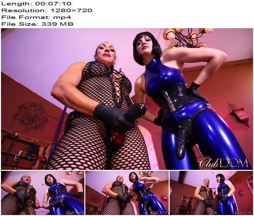 ClubDom – Goddess Cheyenne & Jean Bardot StrapOn - POV Strap-On, Pegging