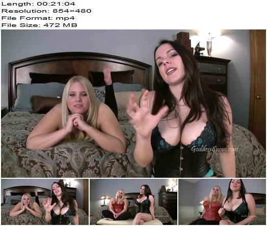 Goddess Alexandra Snow & Miss Noel Knight - 20 Minutes of Stroking with Miss Noel - Joi, Jerk Off Instruction