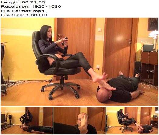 Lady Electra – The Real Boss – Foot Worship And Face As Footstool – Hot Femdom - Female Domination, Footworship