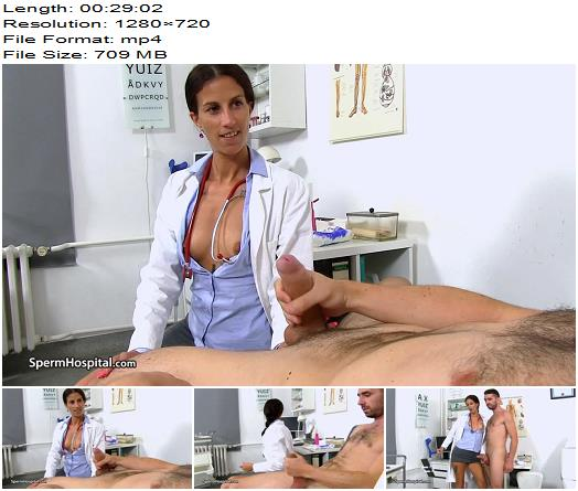 Sperm Hospital – Hot legs uniform mature Danuta big dick handjob – Forced Orgasm - Bid Dick, Milking
