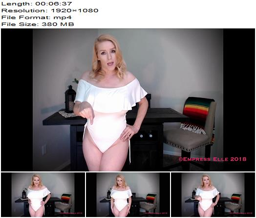 Empress Elle – Special Sauce CEI - Female Domination, Boobs Bouncing