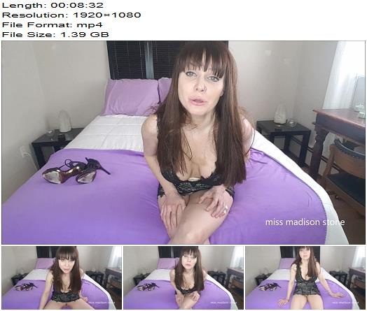 Miss Madison Stone – Hand is your dicks ONLY home - Jerkoff Commands, Female Domination