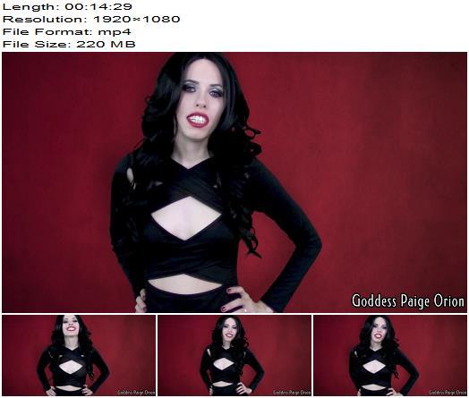 Goddess Paige – Breeding Bitch - Forced Bi, Verbal Humiliation