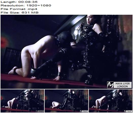 Maya Liyer – Boot Slave for Latex Goddess – Boot Domination - Boot Fetish, Latex Gloves