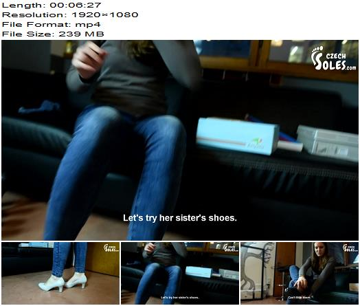 Czech Soles – Trying High Heels On Her Sexy Feet - Foot Worship, POV