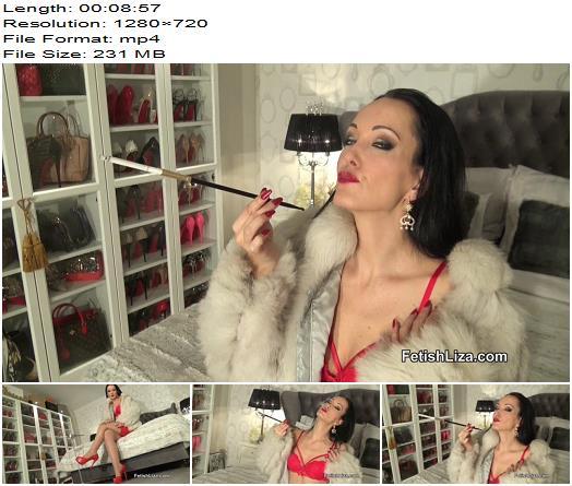 Fetish Liza – Holder smoking in fur - Instructions, Masturbation Instruction