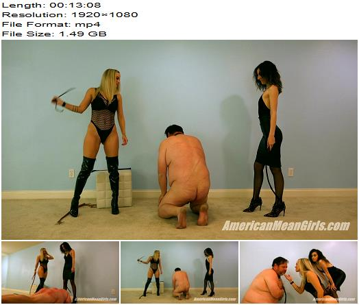 The Mean Girls – Queen Grace, Goddess Platinum – Brexit Beatdown (1080 HD) – Whipping - AmericanMeanGirls, Caning