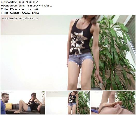 Madame Marissa – Nylon slave bound and humiliated – Foot Smelling - Femdom, Pantyhose