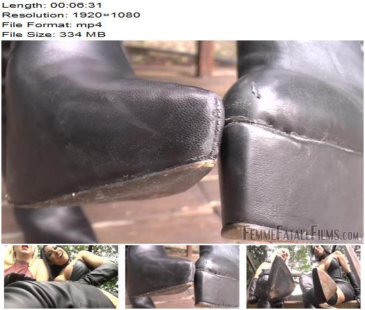 Femme Fatale Films – Boot Break – Complete Film – Boot Worship - Boot Fetish, Leather Gloves