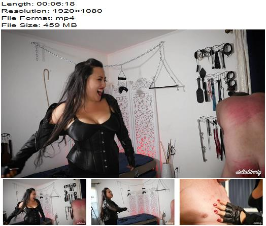 Stella Liberty – Take The Pain For Me With Empress Jazmin Wu – Whipping - Humiliation, Slave Training
