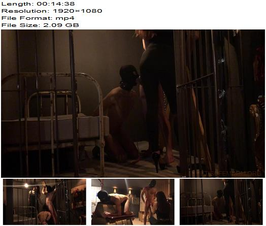 Miss Melisande Sin – Eastern European Mistress and her Two Young Bi  - Lady Melisande, White Male Slaves