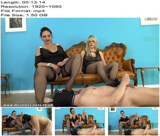 Mistress Tess – Weak for Pantyhose – Mistress Ezada Sinn – Teasing - Footlicking, Pantyhose Tease