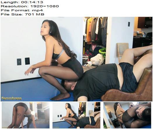 FemmBreze – Mad In Nylon (1080 HD) – Mistress Adriana – Scissor - Scissorhold, Scissoring
