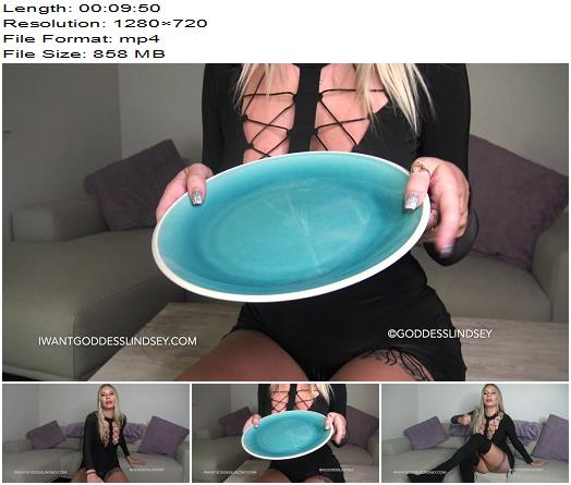 Goddess Lindsey - Loser's Meal - Humiliation - Male Cum Swallowing, Teasing